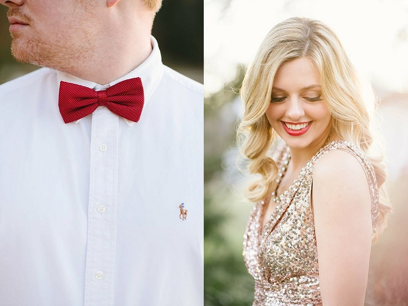 modern glitter gold red valentines day wedding pictures (5)