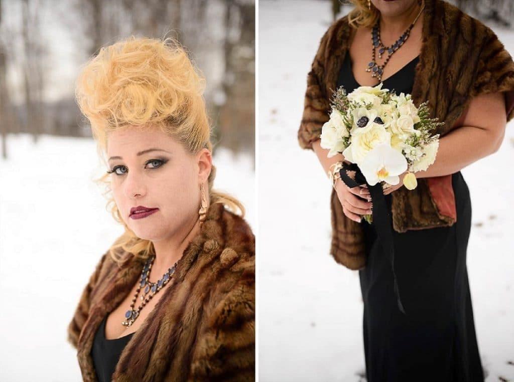 vintage gothic snow bridal inspiration pictures (5) (Medium)