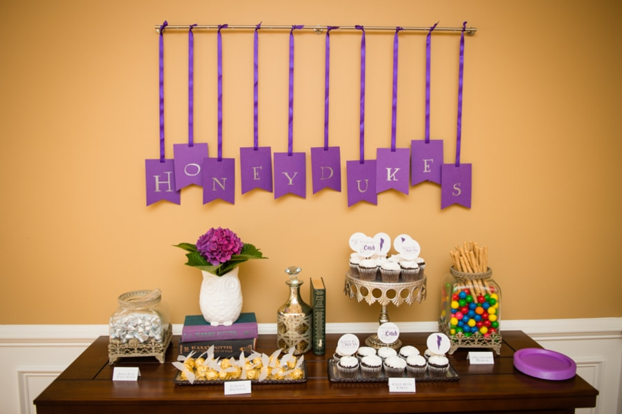 The ultimate harry potter bridal shower details for How to decorate for a bridal shower at home