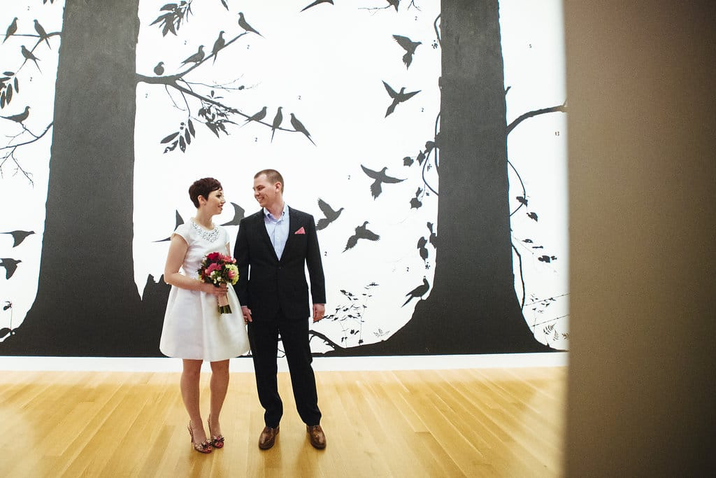 modern washington dc elopement pop up wedding pictures art gallery (3)