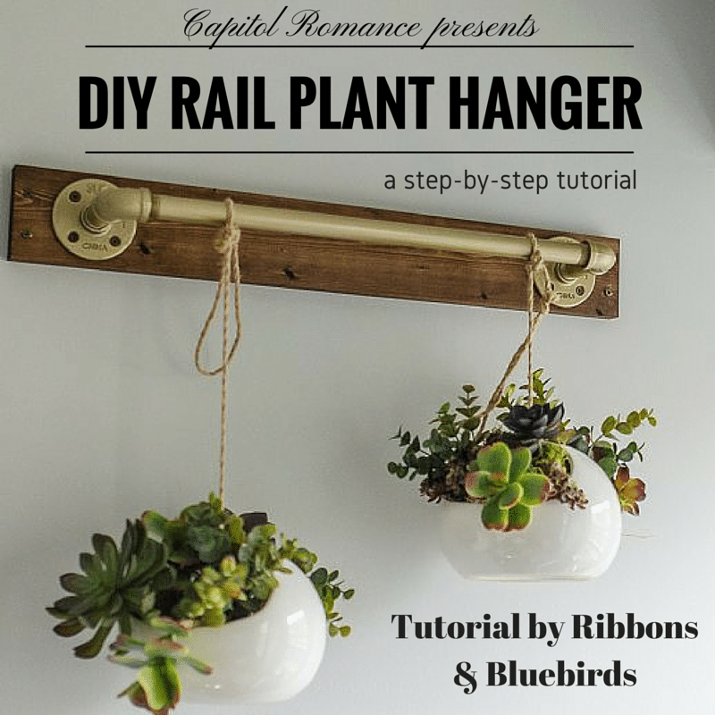 DIY indoor plant hanger tutorial