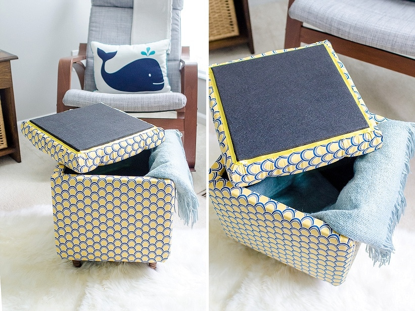 DIY how to make storage ottoman tutorial (1) - DIY Tutorial: How To Make A DIY Storage Ottoman ~ Part 2 Capitol