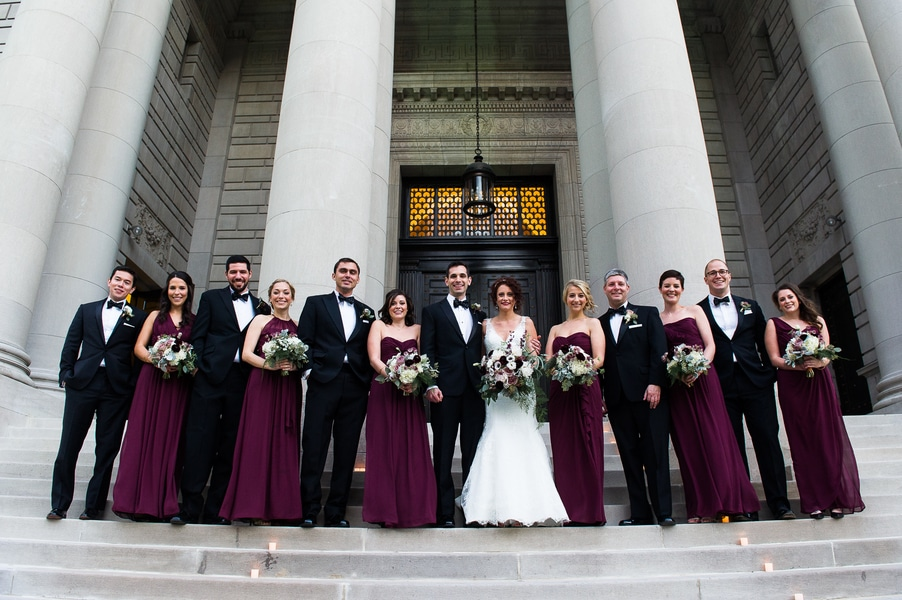 classy gold themed Washington DC wedding Carnegie Institute Science pictures (15)