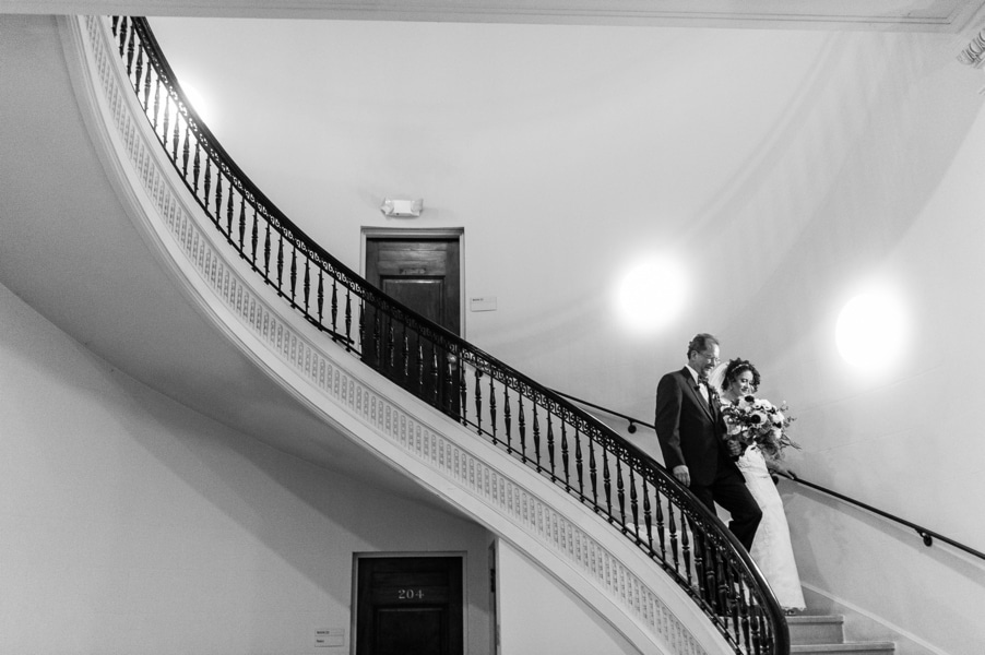classy gold themed Washington DC wedding Carnegie Institute Science pictures (18)