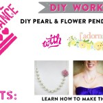 DIY Workshop: Learn How to Make Pearl & Flower Pendant Necklaces