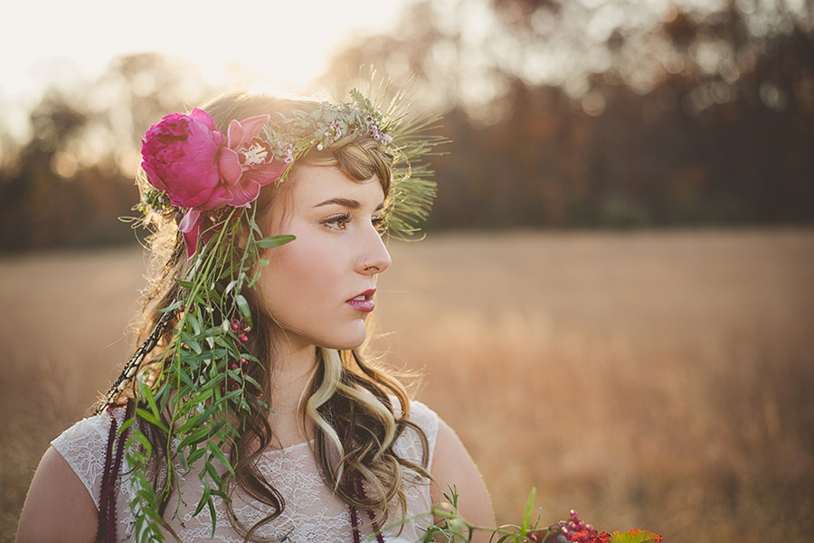 modern organic bohemian wedding bridal pictures (6)