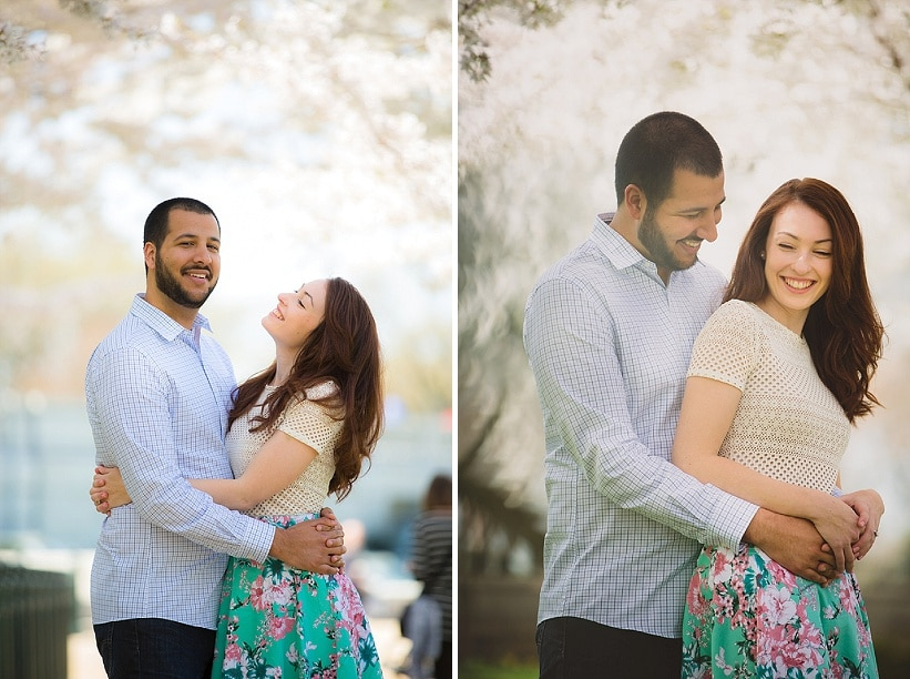 modern cherry blossom engagement pictures washington dc (1)