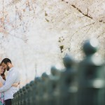 Aaron & Olivia's Cherry Blossom Engagement Pictures & Love Story