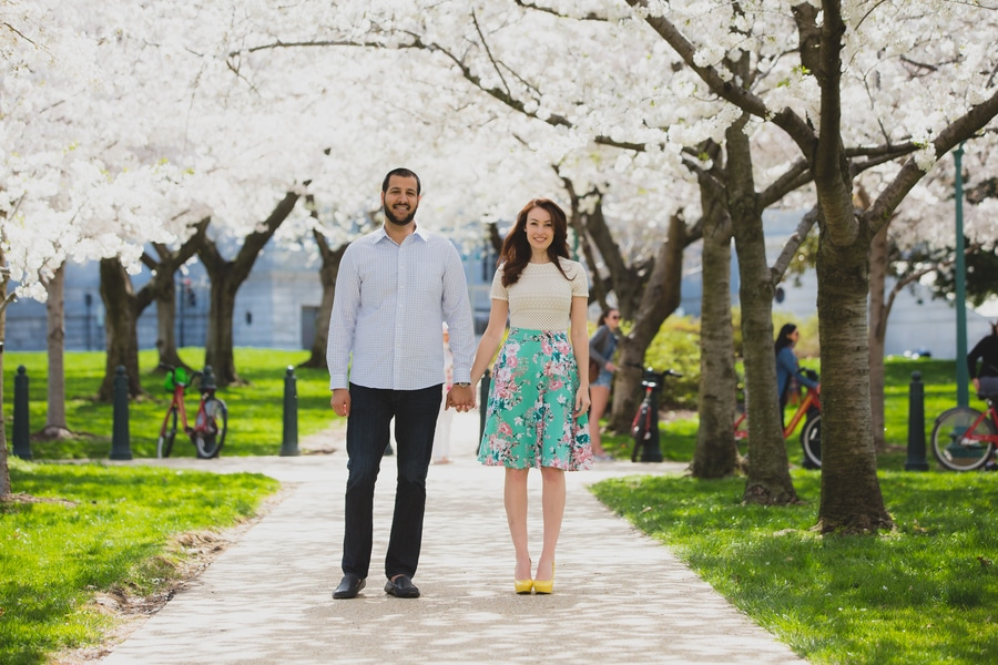 modern cherry blossom engagement pictures washington dc (9)