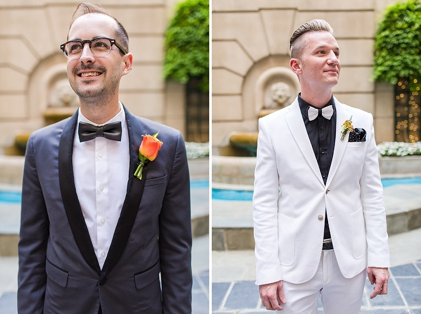 modern same sex orange themed DC wedding (10)