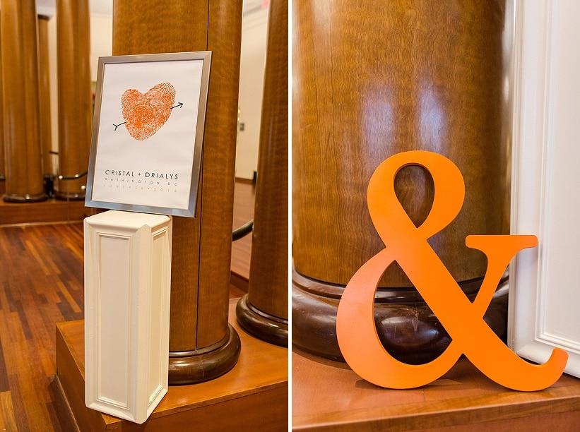 modern same sex orange themed DC wedding (7)