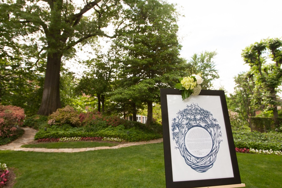 simple romantic springtime DC wedding Meridian House (11)