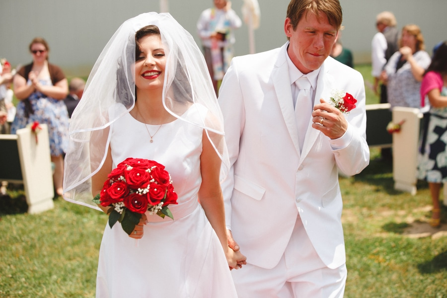 1950s drive in wedding in Virginia (19)