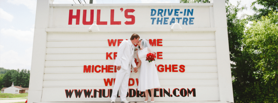 drive in wedding