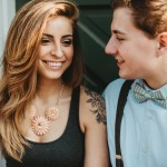 Robert & Samantha's Gorgeous, Golden Light Lakeside Engagement Pictures in Maryland