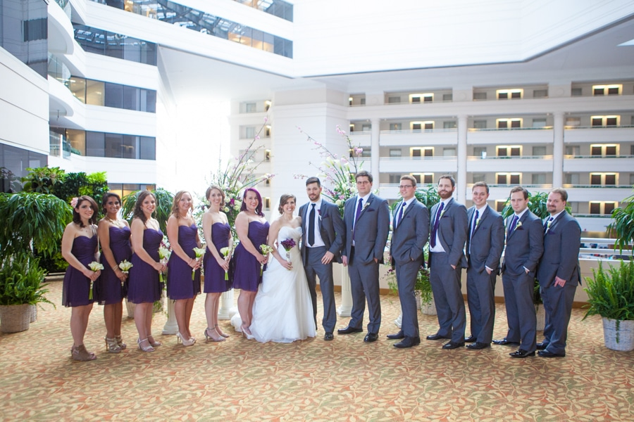 modern washington dc restaurant wedding pictures purple (20)