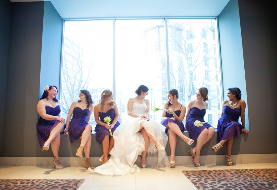modern washington dc restaurant wedding pictures purple (21)