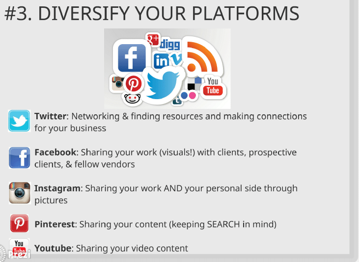 diversify social media platforms