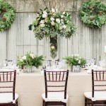 Winter Wedding Ideas: Wreaths as Bouquets & Pinecone Decorations