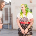 Danielle & Tyler's Colorful Richmond Virginia Engagement Pictures with Murals