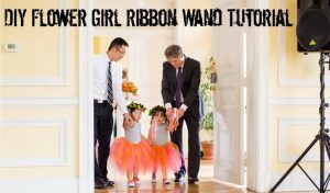diy flower girl ribbon wand tutorial
