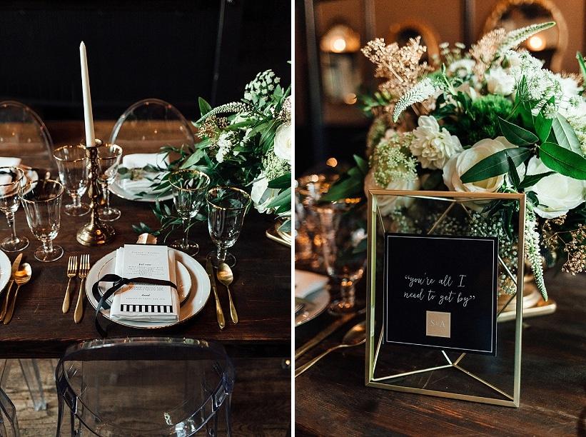 marvin gaye black gold art deco wedding design inspiration pictures ideas (1)