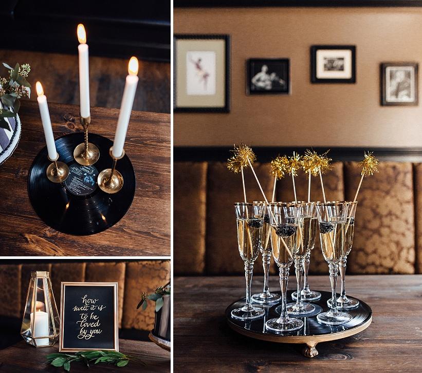marvin gaye black gold art deco wedding design inspiration pictures ideas (13)