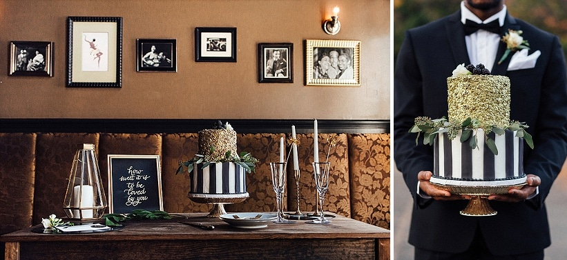 marvin gaye black gold art deco wedding design inspiration pictures ideas (6)
