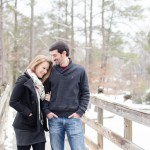 Chris & Stef's Winter, Snowy Engagement Pictures in Virginia