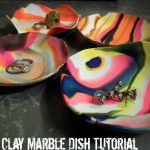 DIY Tutorial: How to Make DIY Marbled Clay Dishes