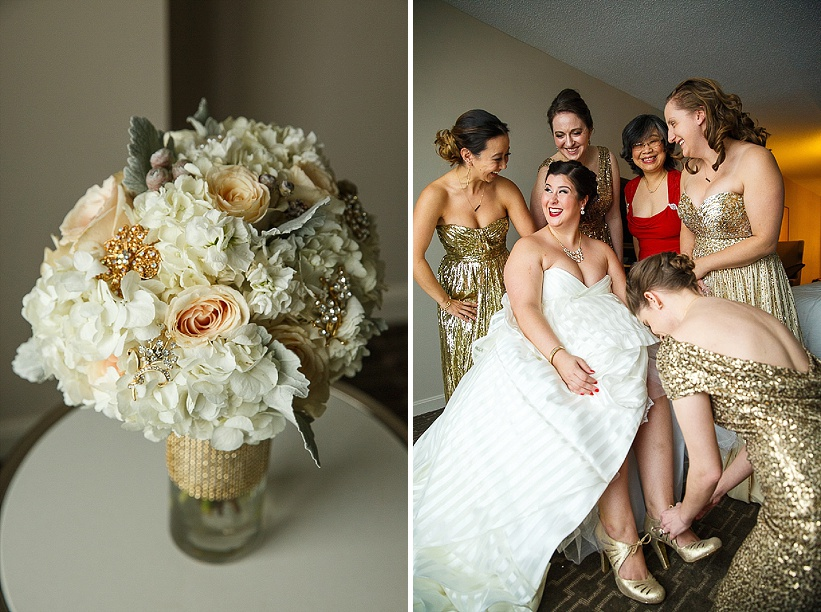 diy gold white winter harry potter themed wedding (11)