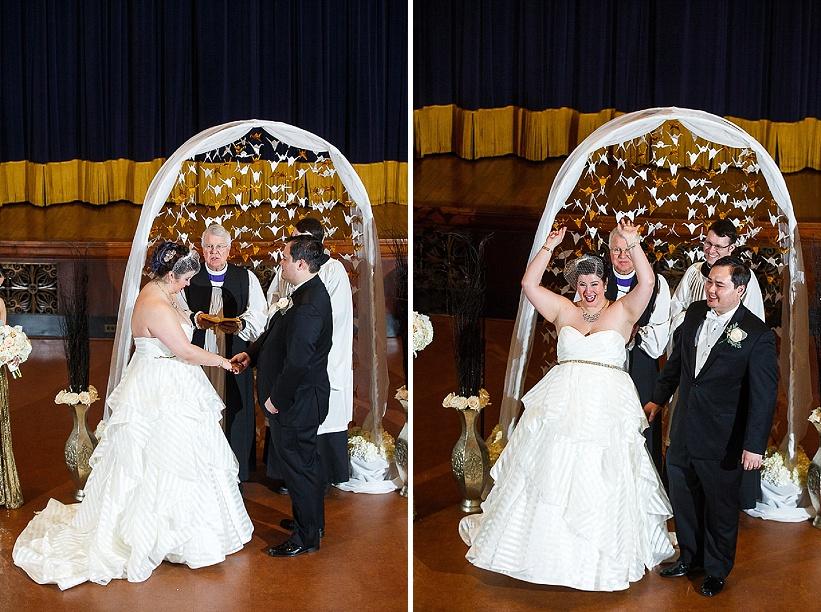 diy gold white winter harry potter themed wedding (6)