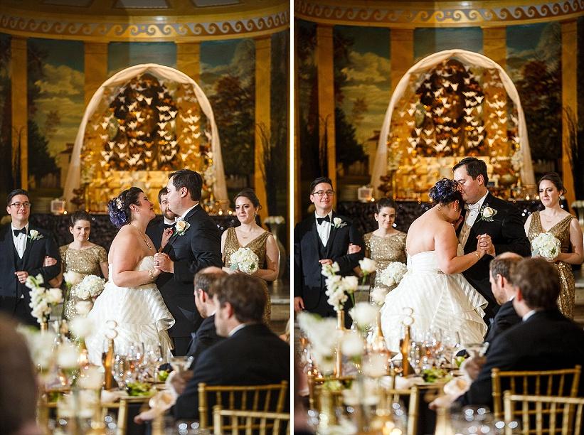 diy gold white winter harry potter themed wedding (9)
