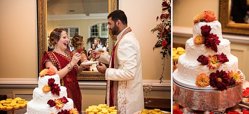 multicultural indian american virginia winery wedding fall themed winery at fine creek (9)