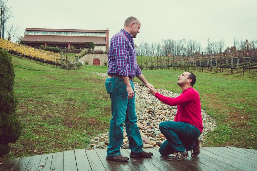 surprise virginia winery proposal same sex (6)