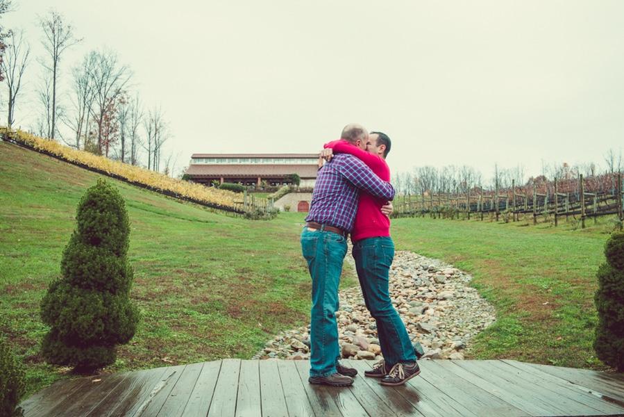surprise virginia winery proposal same sex (7)