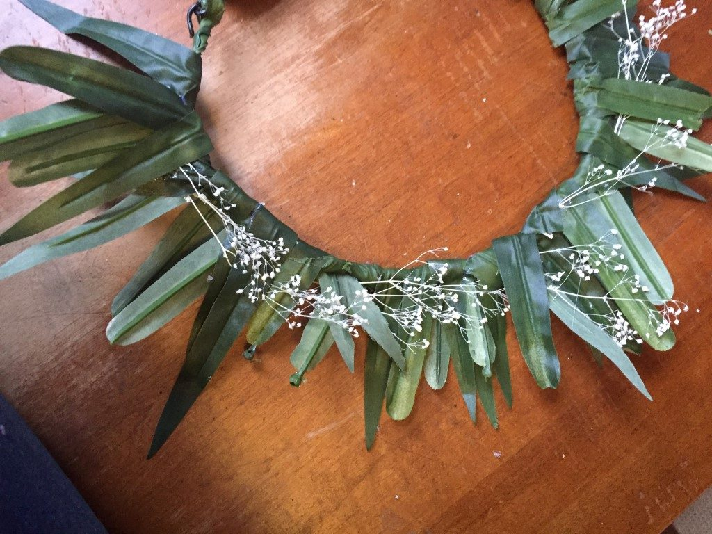 diy flower crown tutorial  (2)