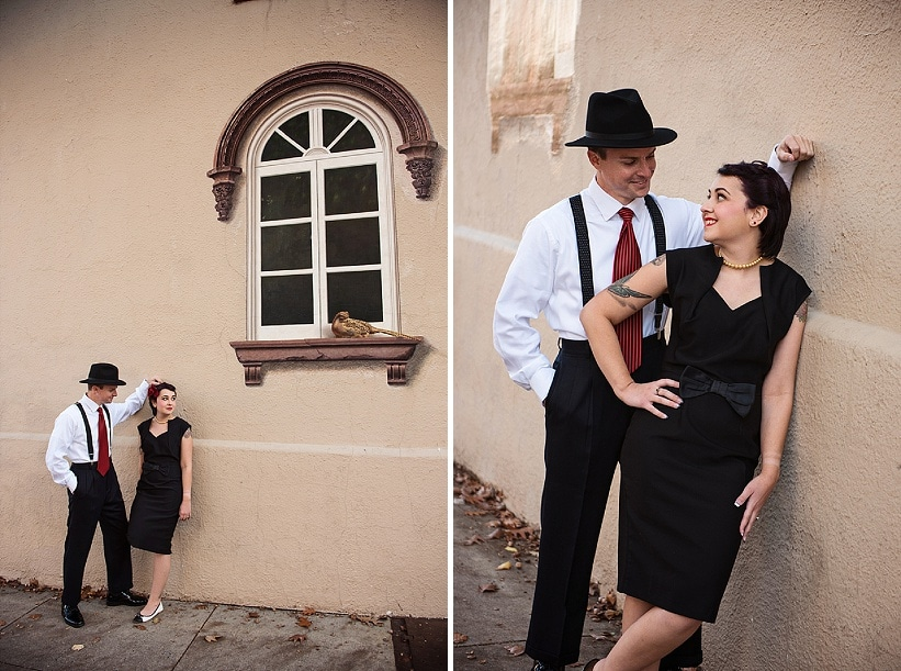 pin up 1950s inspired maryland record store engagement pictures (7)