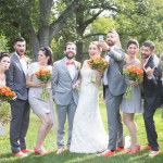 Drew & Kelly's DIY, Family-Oriented, Coral & Grey Wedding