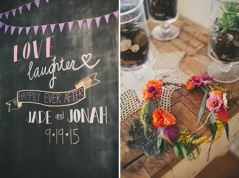 festival themed DIY rainbox colorful west virginia wedding (12)