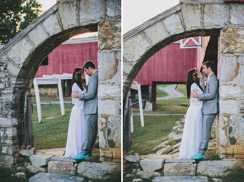festival themed DIY rainbox colorful west virginia wedding (15)