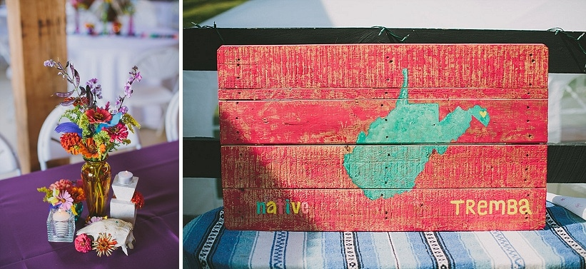 festival themed DIY rainbox colorful west virginia wedding (17)