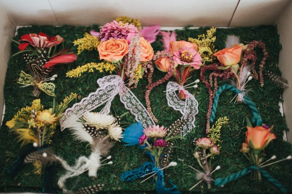 festival themed DIY rainbox colorful west virginia wedding (26)