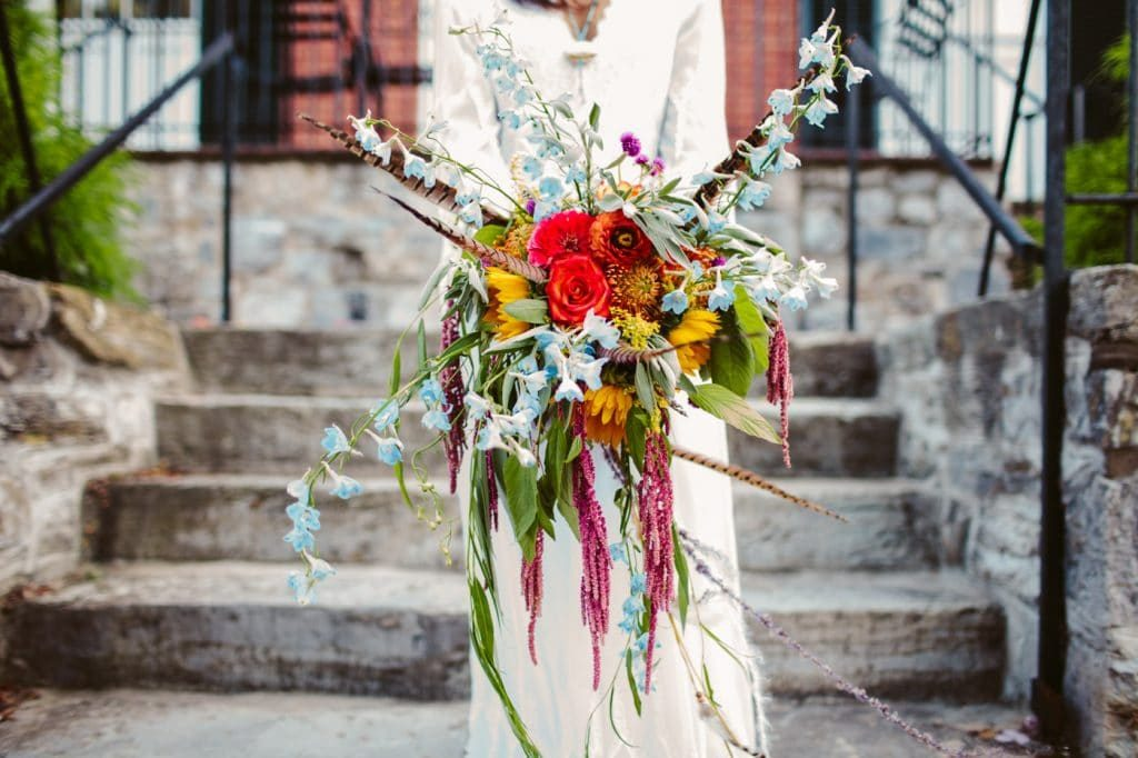 festival themed DIY rainbox colorful west virginia wedding (38)