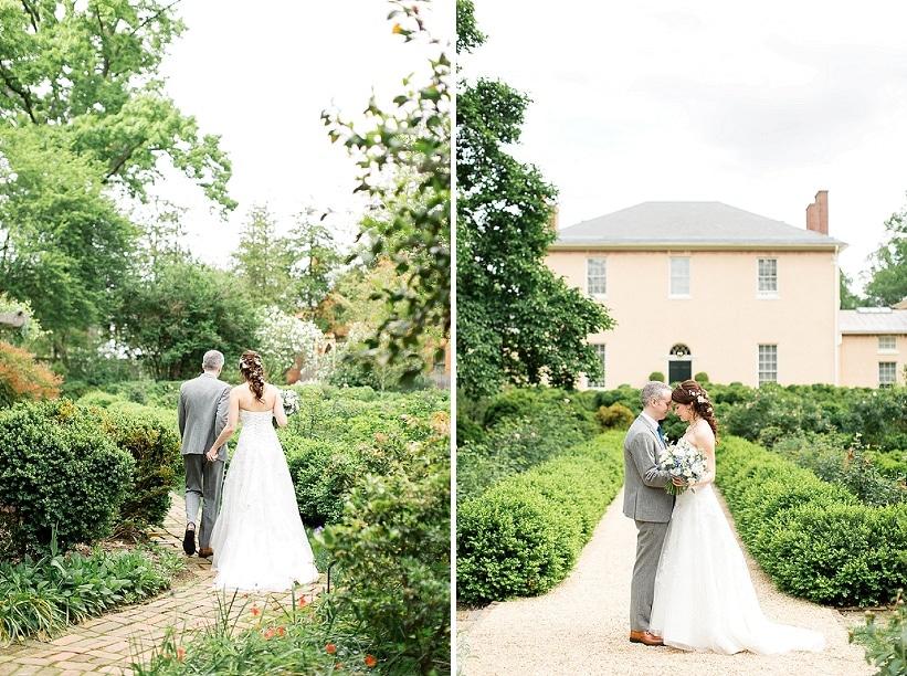 Tudor Place Spring DC Wedding Blue Flowers Garden Ceremony (12)