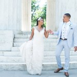 Angelica & Daneal's Intimate DC Wedding Ceremony at the DC War Memorial