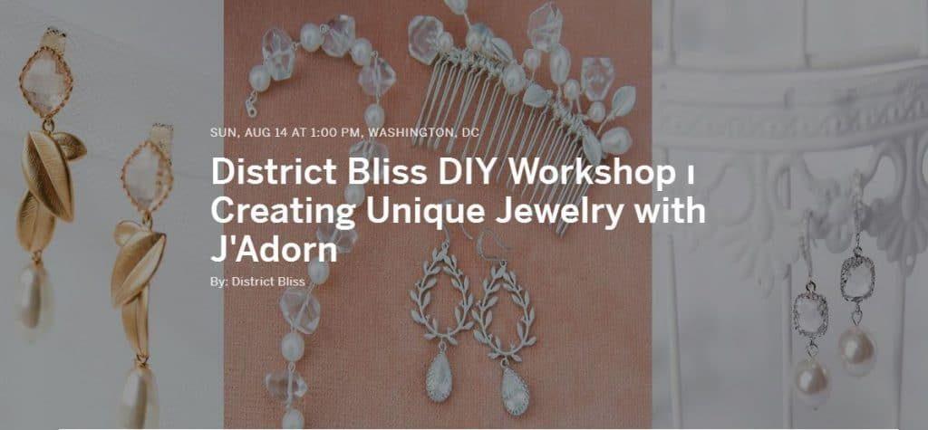 diy jewelry making class workshop washington dc