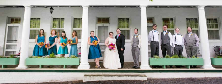 tv themed fun bright virginia wedding