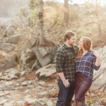 Carolyn & Jon's Northern Virginia Great Falls Park & Blackfinn Engagement Pictures