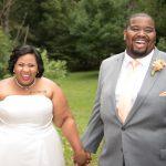 Erek & Danielle's Simple & Fun, Orange Themed Backyard Wedding